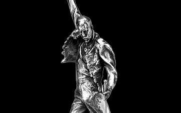 "Freddie Mercury 18"" Pewter limited edition statue 3"