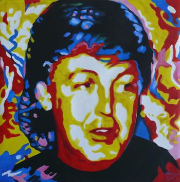 Vladimir Gorsky's painting of Paul McCartney 12