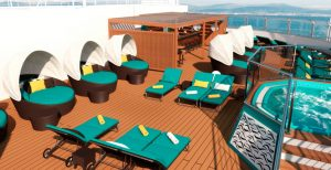 The adults only deck on the Carnival Breeze
