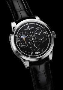 The Jeager Le Coultre Duometre a Quantieme Lunaire watch embodies the latest in horological achievements of Jaeger-LeCoultre