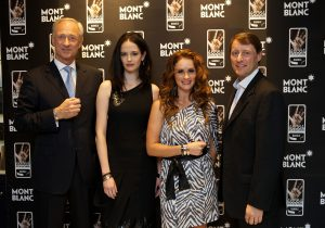 Lutz Bethge, CEO Montblanc International, Eva Green, Angelique Gerber, Robert Coutts