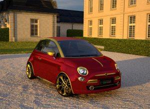 Fenice Milano La dolce Vita Fiat 500 in red