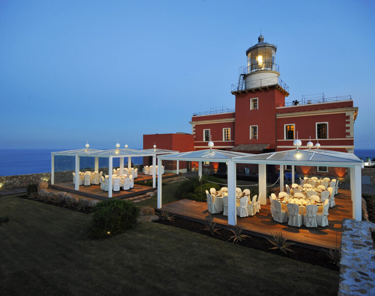"""The lighthouse """"Faro di Capo Spartivento"""" is immersed in a wild landscape that deserves to be explored."""