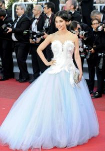 Li Bing-Bing wore Piagets Limelight Jewellry Collection on the red carpet at Cannes Film Festival