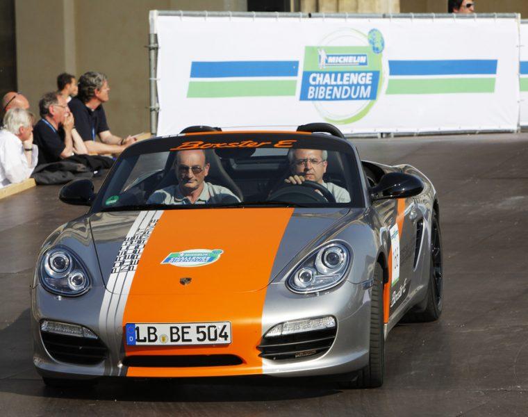 Porsche Boxter E Prototype at the Michelin Challenge Bibendum in Berlin