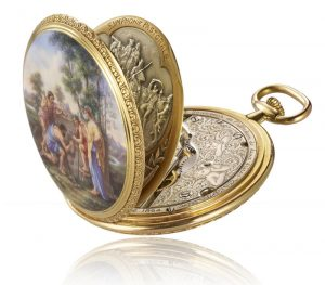Created in 1923, Les Bergers d'Acadie pocket watch single-handedly enshrines the subtle alchemist's blend of skills dedicated to the tireless quest for excellence
