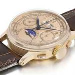 World record watch price 2 Patek Philippe. An exceptional 18K pink gold perpetual calendar chronograph wristwatch with moon phases and pink dial.