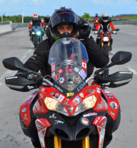 Paolo Pirozzi complete round the world trip on Ducati Multistrada 1200s