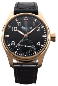 Alpina Startimer Pilot Manufacture watch in 18K Rose Gold