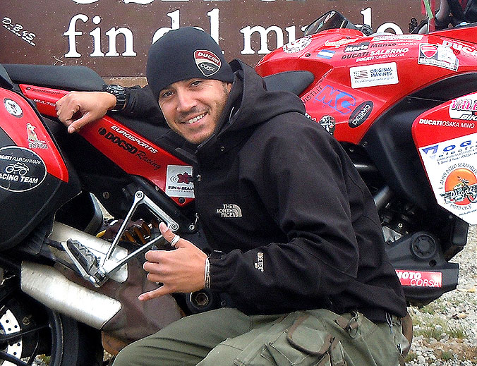 Paolo Pirozzi completes round the world trip on Ducati Multistrada 1200s 1