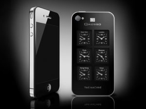 The Gresso iPhone 4 Time machine was designed specifically for people living in the rhythm of world time.