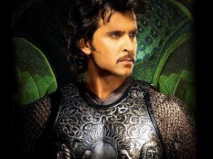 Hrithik Roshan in the historical epic Jodha Akbar