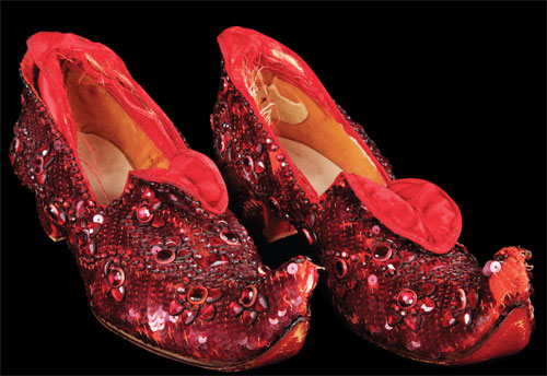 Ruby Slippers from The Wizard of Oz at forthcoming auction