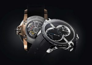 Jaquet Droz Grande Seconde SW watch in Steel Ceramic and Red Gold