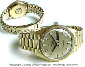 The Omega Golden Seamaster 168.023 Calibre 751 is a very rare watch.