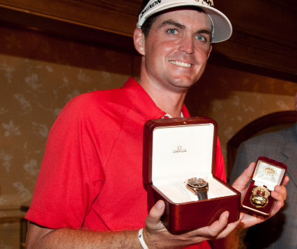 Keegan Bradley presented with OMEGA timepiece to celebrate win at 93rd PGA Championship 5