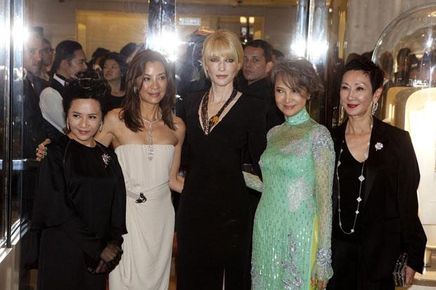 Deanie Ip, Michelle Yeoh, Cate Blanchett, Josephine Siao Fong Fong and Nansun Shi