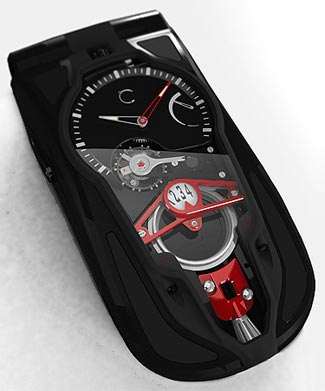 CELSIUS X VI II Micromechanical mobile phone featuring Remontage Papillon winding system