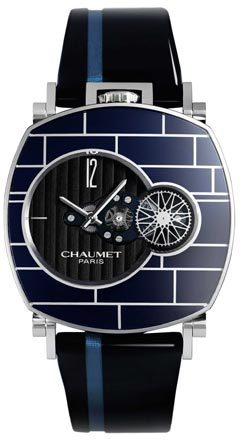 Chaumet Paris Dandy Arty Open Face Cushion-shaped stainless steel wristwatch