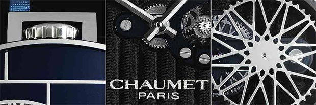 Chaumet, Paris Dandy Arty Open Face Unique Piece. Cushion-shaped, self-winding, water-resistant, stainless steel wristwatch with Chaumet clasp.