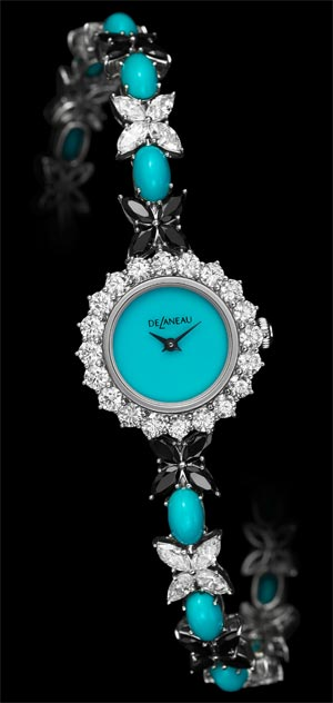Les Délicates jewelry watch collection from DeLaneau. Romantic, sparkling and precious. 8