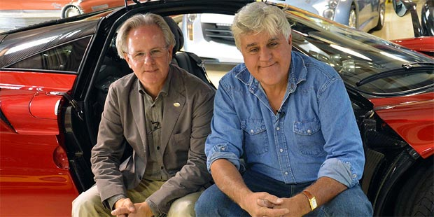 Horacio Pagani with Jay Leno in Jays garage