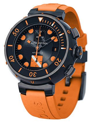 Louis Vuitton Tambour Diving II Chronograph, automatic, 18K black gold diver's watch