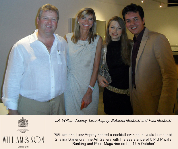 William and Lucy Asprey host William & Son evening in Kuala Lumpur