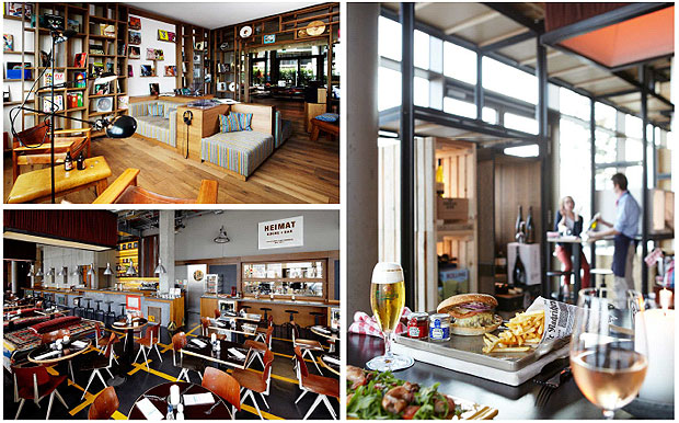 Relaxed dining and home made food at the Heimat Kitchen & Bar in Halfencity, Hamburg