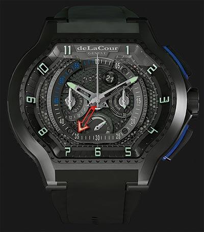 DeLaCour Genève the Mourinho City Ego Chrono Prototype titanium wrist watch