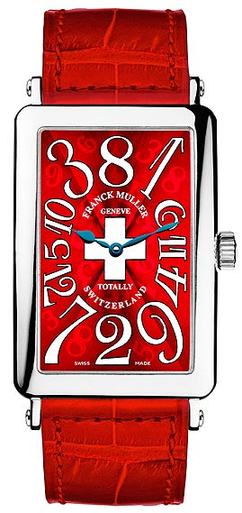 Franck Muller Genève Long Island Crazy Hours Totally Switzerland watch in 18k white gold