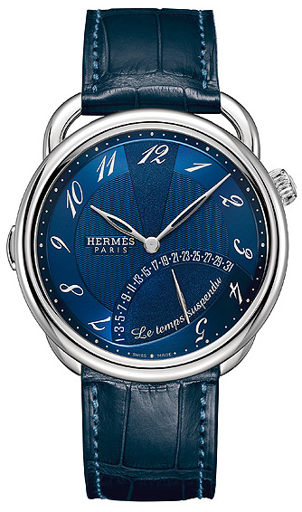 Hermès Paris Arceau, Le Temps Suspendu, worlds first triple retrograde palladium watch