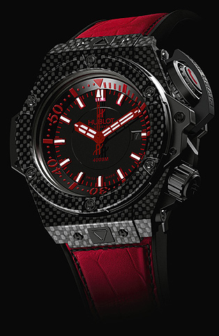 Hublot Genève Oceanographic 4000 carbon fiber and titanium divers watch