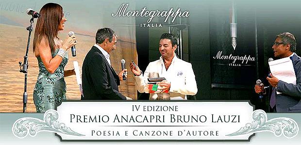 """Montegrappa's """"Premio Anacapri Penna d'Autore"""" awarded to Marino Bartoletti."""