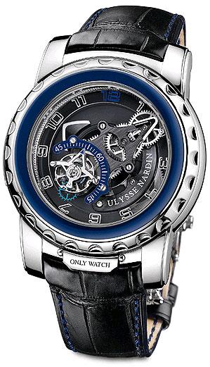 Ulysse Nardin Freak Diavolo stainless steel watch with flying tourbillon regulator