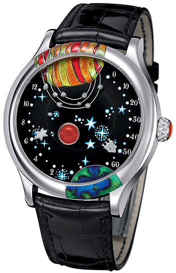 Van Cleef & Arpels Poetic Complication From the Earth to the Moon 18K white gold watch