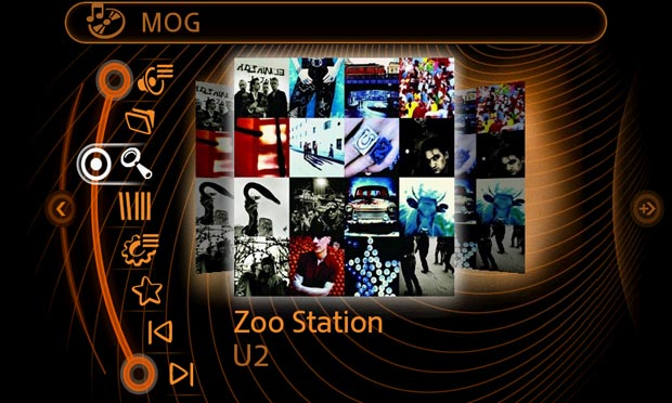 The MOG iPhone app enables the following capabilities in the MINI Connected infotainment system: