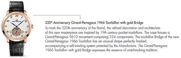 Girard-Perregaux Contemporary masterpieces: The Aesthetics of time