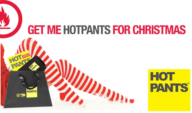 Want to get into Luxurious Shape this Christmas? Why not try working out in Hotpants.