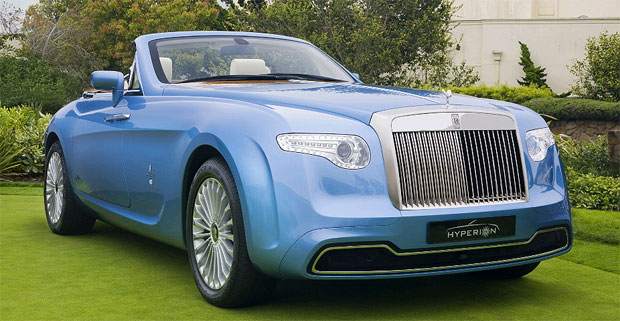 The Pininfarina Hyperion car based on the Rolls-Royce Drophead Coupe