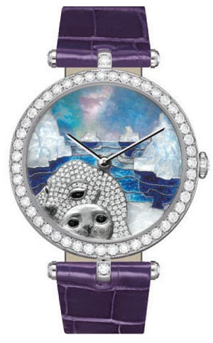 Lady Arpels Polar Landscape seal decor wins at Grand Prix d'Horlogerie de Genève 2011