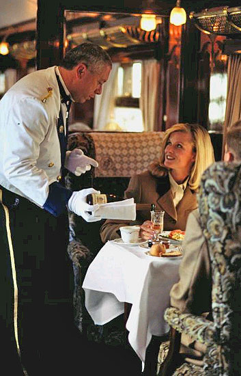 Christmas Lunch aboard the Orient Express Pullman