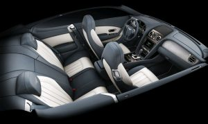 Inside the cabin of the Bentley Continental V8 range is an Eliade cloth headlining