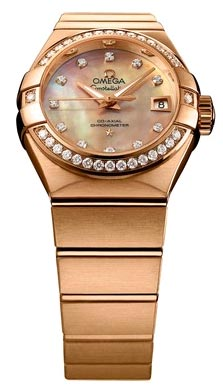 The Omega Constellation Co-Axial calibre 8521 27mm watch in 18k red gold