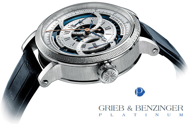 Masters of the skeltonised watches, Grieb & Benzinger will soon be presenting thier yearly horological highlight – the Grieb & Benzinger Blue Ocean watch - a intricate tourbillon minute repeater – a real treat dedicated to fans of special chronographs.