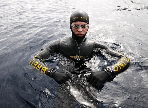 Herbert Nitsch, airline pilot and extreme record man, went down in history on June 14th 2007, off the Greek island of Spetses, by freediving to a depth of 700 feet (-214 m).