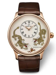 The Jaquet Droz Petite Heure Minute Dragon Watch limited to only 88 pieces