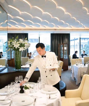 The Mandarin Oriental Hotel in Hong Kong