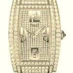 Piaget worked closely with Arianne Phillips, Madonna's long-standing personal stylist and the film's costume designer, to accessorize the Material Girl for the evening. She chose Piaget's dazzling Limelight Tonneau watch in 18-carat white gold with a total of 980 brilliant-cut diamonds