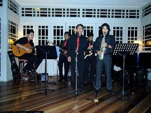 The live band at the Senja Restaurant at Saujana